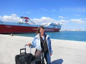Photo: ferry landing in Bari, Italy.
