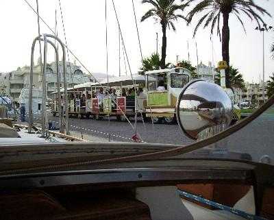 Photo: Tourist train in Benalmadena, Spain. Credit: Lisa Borre.