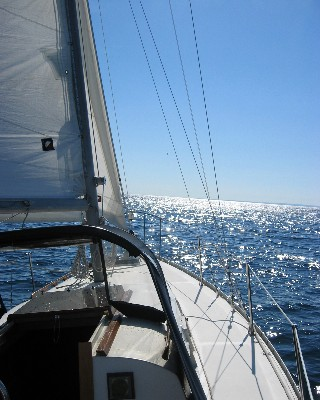 Photo: Sailing to Beaver Island, Michigan. Credit: L. Borre.