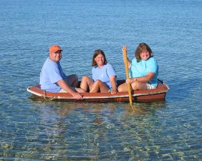 Photo: Dinghy on Lake Michigan.