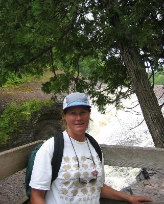 Photo: Lisa Borre at Black River, Lake Superior. Credit: D.R. Barker.