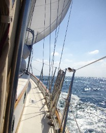 Photo: Sailing on the Black Sea. Credit: Lisa Borre.