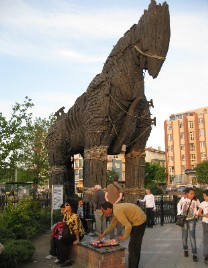 Photo: Hollywood version of Trojan horse in Canakkale, Turkey. Photo by Lisa Borre.