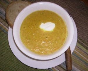 Photo: curried pumpkin soup recipe.
