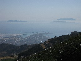 Photo: View of Trapani and the Egadi Islands in the distance. Credit: Lisa Borre.
