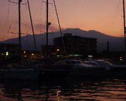 Photo: In the shadow of Mt. Etna in Riposte. Credit: Lisa Borre.