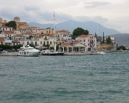 Photo: Tayana 37 Gyatso tied alongside the town quay in Galaxidi, Greece. Credit: Lisa Borre.