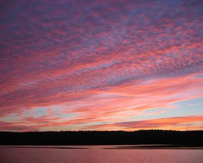 Photo: Sunset at Grand Island, Lake Superior. Credit: L. Borre.