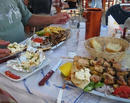 Photo: Local taverna in Levkas, Greece. Credit: Lisa Borre.