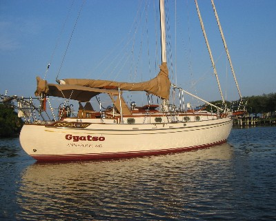 Photo: s/y Gyatso after completing a refit in St. Augustine, FL in 2006. Credit: Lisa Borre.