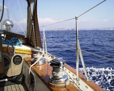Photo: Crossing to Ibiza in the Balearic Islands. Credit: Lisa Borre.