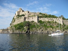 Photo: The Aragonese castle in Ischia. Credit: Lisa Borre.