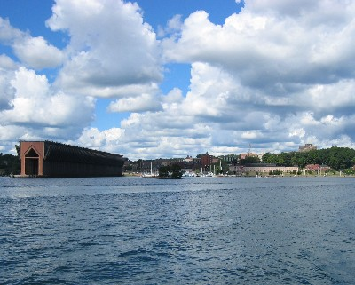 Photo: An old grain elevator on the waterfront in Marquette, Michigan. Credit: L. Borre.