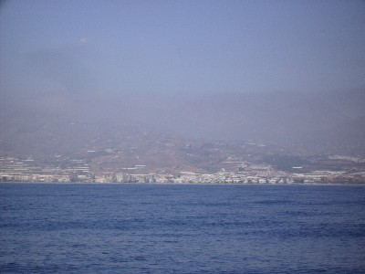 Photo: Costa del Sol, Spain on a hazy day. Credit: Lisa Borre.