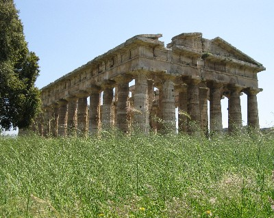 Photo: Greek Temple of Poseidon at ancient Paestum, Italy. Credit: Lisa Borre.