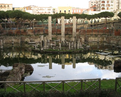 Photo: Macellum in Pozzuoli, which is also the site of an important geological discovery. Credit: Lisa Borre.