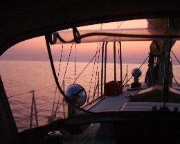 Photo: Sailing the Ionian Sea to Greece. Credit: Lisa Borre.