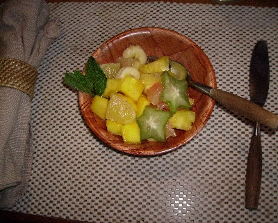 Photo: Tropical Fruit Salad. Credit: Lisa Borre.