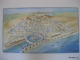 Image: Map of ancient Carthage. Credit: Lisa Borre.
