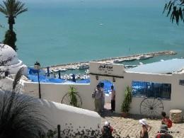 Photo: View of the marina in Sidi Bou Said, Tunisia. Credit: Lisa Borre.