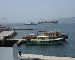 Photo: Ships on the Dardanelles in Turkey. Credit: Lisa Borre.
