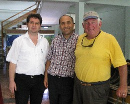 Photo: Crew of Gyatso visits KTU marine sciences faculty, Turkey. Credit: Lisa Borre.