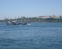 Photo: Ferry on the Bosphorus in Istanbul, Turkey. Credit: Lisa Borre.