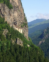 Photo: Sumela Monastery near Trabzon, Turkey. Credit: Lisa Borre.