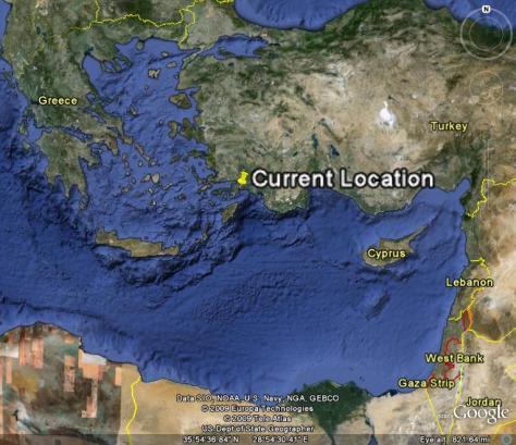 Image: location of Marmaris, Turkey.