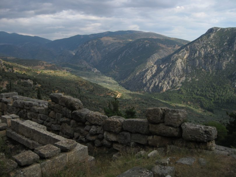 Photo: View from Delphi, Greece. Credit: Lisa Borre.