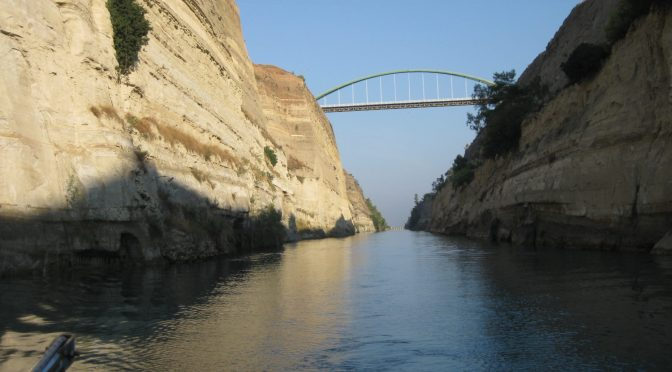 Photo: Corinth Canal, Greece. Credit: Lisa Borre.