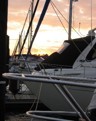 Photo: Sunset at the marina in Port Colborne, Ontario. Credit: L. Borre.