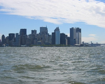 Photo: Lower Manhattan from the water without World Trade Center towers. Credit: L. Borre.