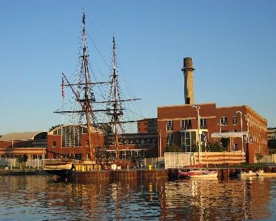 Photo: A replica of O.H. Perry's second flagship Niagara at the maritime museum in Erie, Pennsylvania. Credit: Lisa Borre.