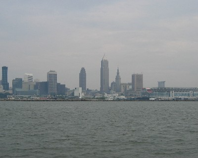 Photo: Cleveland, Ohio from the water. Credit: L. Borre.