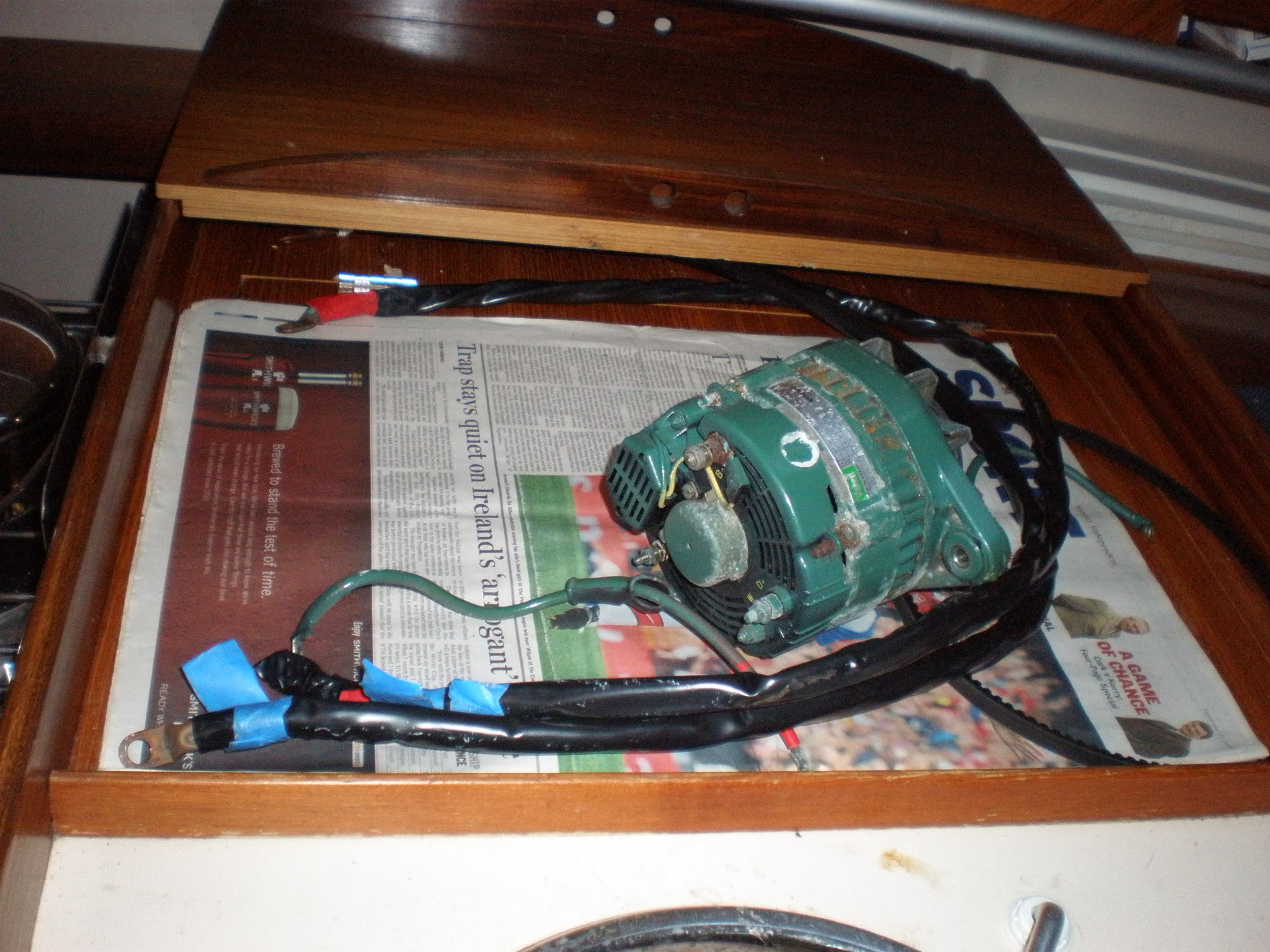Installing A 80w Balmar High Output Alternator With Smart Regulator Wiring Diagram One Wire The Old