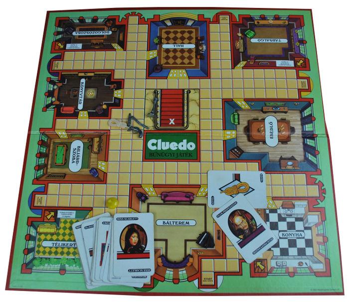 Cluedo társasjáték tábla