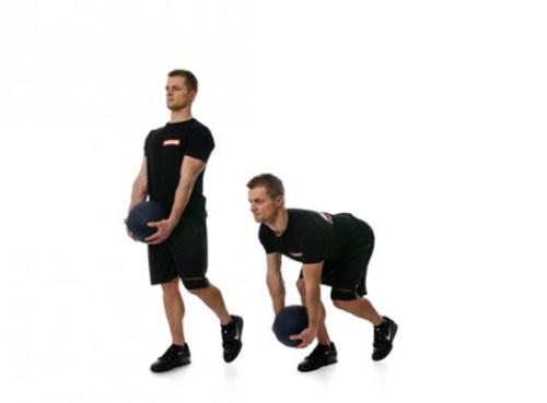 medicine ball one leg Deadball-Split-Stance-Deadlift-535x395