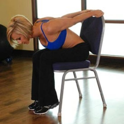 chair upper body stretch