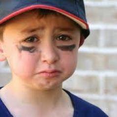 Sad athlete