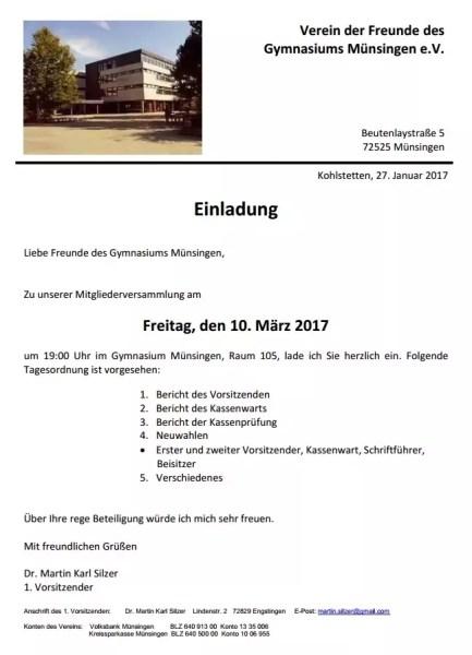 Screen Einladung Hauptversammlung Förderverein