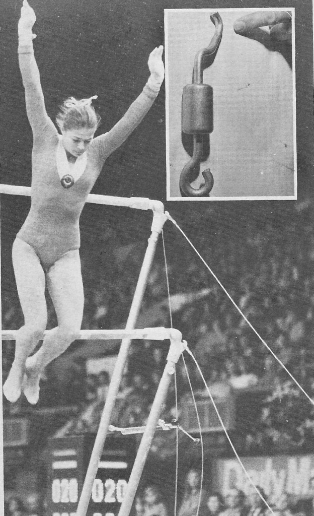 The Bars famously collapse at the end of Tourischeva's bar routine
