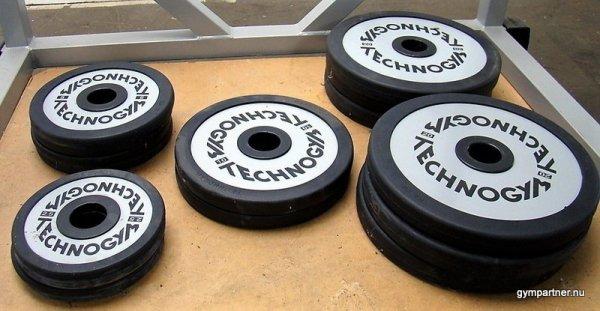 Technogym begagnade Viktskivor i gummi