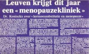 menopause geschiedenis in belgie