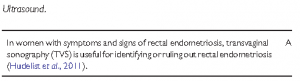 Eshre guidelines : diagnosis of deep endometriosis by ultrasound