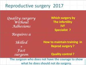 Reproductive surgery anno 2017