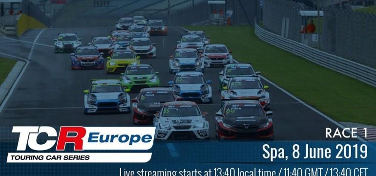 2019 Spa, TCR Europe Round 5 Élőben 13:40 től