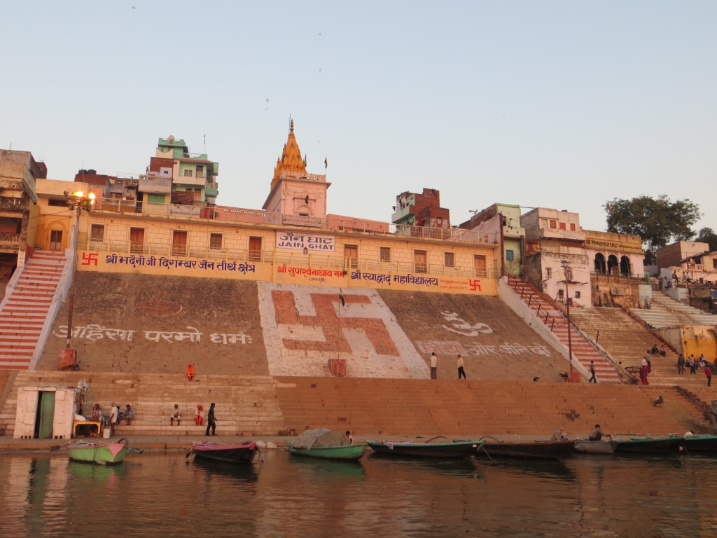 There is a MASSIVE Swastika Painted on the Banks of the Ganges River in India