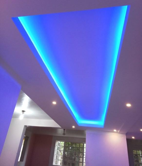 Gypsum ceiling corridor design
