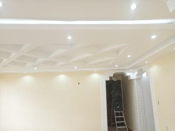 gypsum ceiling living rm design